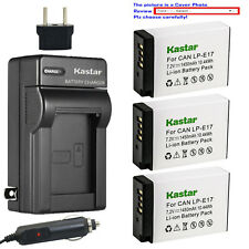 Kastar Battery AC Travel Charger for Canon E17 EOS RP Mirrorless Digital Camera