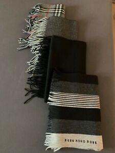 Herren Damen Cashmere Schottland Wolle Decke Schal 3x, 1x Boss