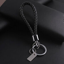 Cool Mens Leather Key Chain Ring Holder Keyfob Car Keyring Keychain Pendant Gift