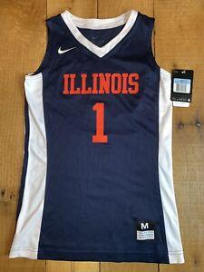 Girls Nike Vapor Elite Official NCAA Illinois Basketball Jersey #1 Medium NWT