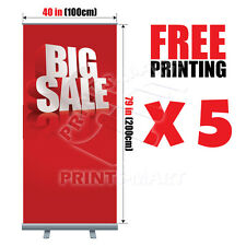 """(5X) 40""""x79"""" Trade Show Event Retractable Roll Up Banner Stand FREE PRINT & SHIP"""