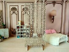Miniature screen stars room divider dollhouse dressin furniture 1:6 partition