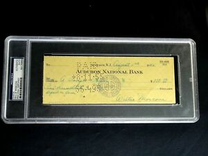 WILLIE MOSCONI PSA/DNA SIGNED 1955 CHECK AUTOGRAPH AUTO POOL BILLIARDS G.O.A.T