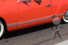 Side Molding Set, Complete, Sharp-Edge Style VW 141-898-497 Karmann Ghia