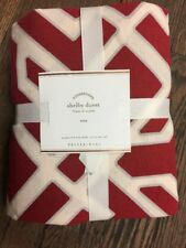 Pottery Barn Shelby geo Twin duvet RED