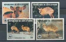 572239) Elfenbeinküste Nr.881-4** WWF Zebraducker