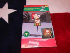 """Christmas Snoopy Indoor/Outdoor Yard Decor """"Snoopy on his Present"""""""