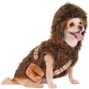 Chewbacca Dog Costume - LARGE - STAR WARS - Brown Furry Hoodie - Rubie's NWT