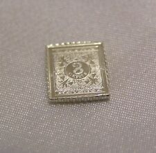 SOLID SILVER STAMP CHINA 1897 ONE DOLLAR ON THREE-CENT ISSUE
