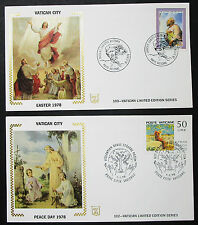 Vatican limited edition series set of 2 Illustrated Covers vaticano cartas h-8431