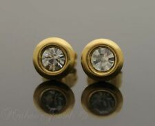 Crystal Yellow Gold Plated Stud Fashion Earrings
