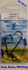 Sea Fishing Rig, 2 Hook Pulley (Pennel) 3/0 + 3/0 Cod & Bass x 10 By Searigs UK