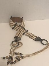 streets ahead Woven Belt With Metal And Beads Size Medium