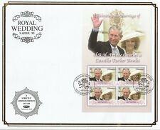 GRENADA 7 SEPTEMBER 2005 ROYAL WEDDING M/SHEET O/S VLE BENHAM FIRST DAY COVER