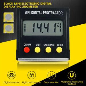 Digital Inclinometer LED Magnetic Level Box Gauge Angle Meter Finder Protractor