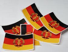 6 Aufkleber DDR Fahne ca. 50mm x 32mm