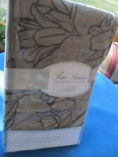 Nordstrom At Home Standard Pillow Sham Gray W Black Flower Outline Cotton Nip