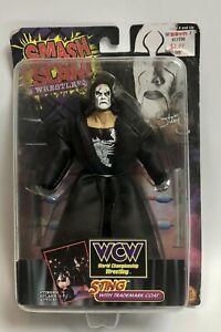Toybiz 1999 WCW Smash Slam Wresters Sting Trademark Coat