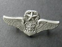 US AIR FORCE NAVIGATOR MASTER OBSERVER USAF WINGS LAPEL PIN BADGE 1.25 INCHES