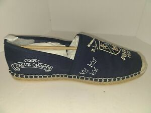 Amputee LEFT SHOE ONLY Barron-SH-CSL Navy Yale Graphic Canvas Polo Ralph Lauren