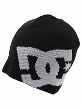 DC SHOES MENS BEANIE HAT.NEW BIG STAR BLACK WOOLLY ACRYLIC KNITTE CAP 7W 812 BLK
