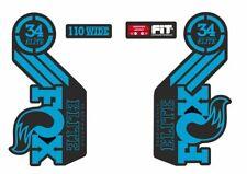 Fox Elite Fork / Suspension Factory Style Decal Kit Sticker Adhesive Set Blue