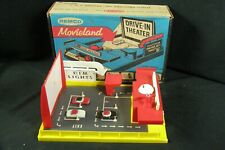 1959 Remco Movieland Drive-In Theater Theatre w/ 3 Toy Cars