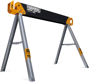 Sawhorse with 2x4 Support Arms 1100 LB Capacity Heavy Duty Construction