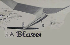 "Model Airplane Plans (FF): 1/2A BLAZER 42"" Wingspan (Carl Goldberg)"