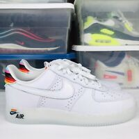 Nike Air Force 1 Low White Rainbow (Be True) CV0258-100 Men's Size 11 New