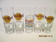 5 Hard Rock Cafe Tall Shot Glasses