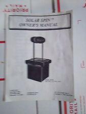solar spin arcade manual #1