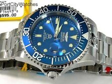 Invicta Grand Diver 47mm 24 J. Automatic Stainless Steel Watch Steel Blue Dial