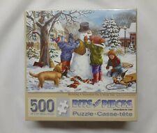 Building A Snowman by Liz Goodrick-Dillon - 500 Piece Puzzle - Bits and Pieces