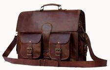 Men's Real Leather Vintage Laptop Messenger Handmade Briefcase Bag Satchel New