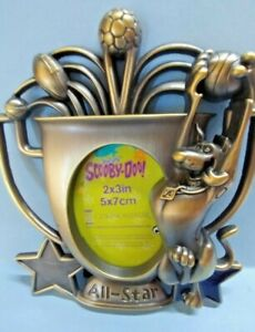 Scooby Doo Picture Frame All Star holds 2x3 picture Cartoon network silver metal