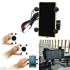 New Motorcycle Bike Mobile Phone Holder Mount Handle Carrier with USB Charger