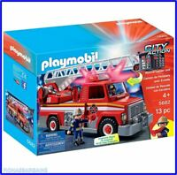 NEW Playmobil 5682 City Action Fire Engine Rescue Ladder Unit Track Playset