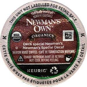 Newman's Organics Medium Roast Blend Decaf Coffee Single Serve K-Cup Box of 24