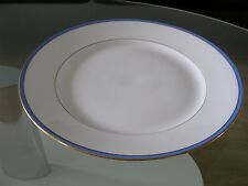 KPM Krister Waldenburg Servierplatte Serving Plate Weiß White Blau Blue Gold
