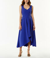 New KAREN MILLEN Asymmetric Hem BNWT £215 Evening Party Salsa Dress UK Size 8 10