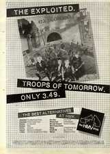 """15/5/82PGN50 ALBUM ADVERT 15X11"""" THE EXPLOITED : TROOPS OF TOMORROW FRAMED"""