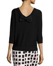 NEW  KATE SPADE  Bow Back Sweater- black size L $198