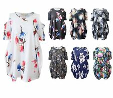 Polyester Crew Neck Floral Plus Size Tops & Shirts for Women