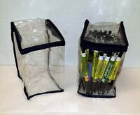Lot of 24 Pieces - Transparent Plastic Travel Cosmetic, Toiletry or Storage Bag