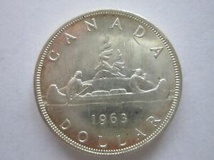 Münze Canada 1963 Dollar 800 er Silber