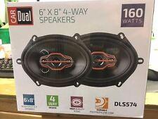 "Dual Electronics DLS574-R 6""x8"" 4-Way Speakers 160 Watts (AZ-DLS574-R-WH44*A)"