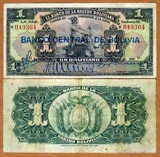 Bolivia,  1 bolivano, 1929, P-112, F  > Hand Signed
