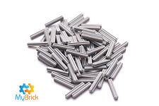 60 Lego Technic Axle 3 Bricks Light Bluish Gray