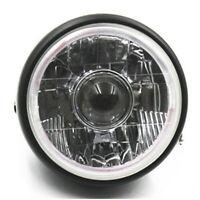 Universal Motorcycle LED Angel Eye Headlight Lamp Projector Hi/Lo Beam Chopper